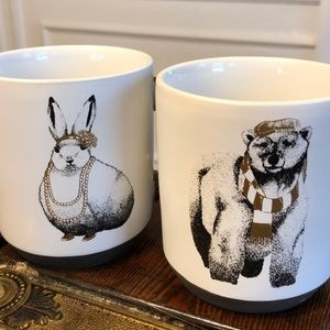 MOVING SALE- Set of 2 Quirky Animal Mugs!